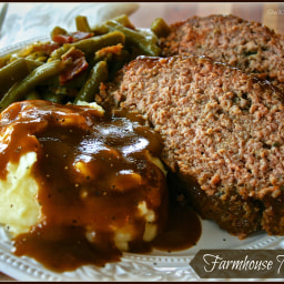 Moist and Juicy Farmhouse Meatloaf