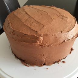 Moist Chocolate Fudge Triple Layer Cake