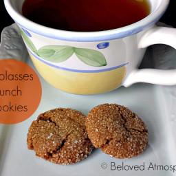 Molasses Crunch Cookies