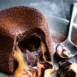 Molten Peanut Butter and Chocolate Fondant Cakes