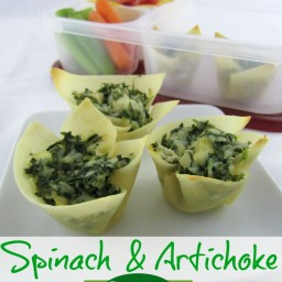 MOMables Spinach and Artichoke Cups