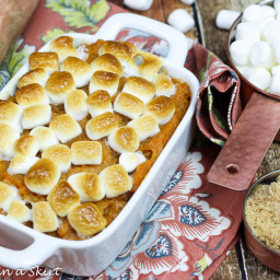 Mom's Best Sweet Potato Casserole with marshmallows