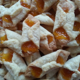 Mom's Cream Cheese Cookies with Apricot filling