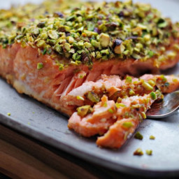 Mom's Pistachio Crusted Salmon