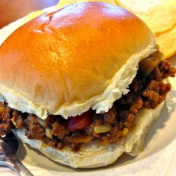 Mom's Sloppy Joes with Chicken Gumbo Soup