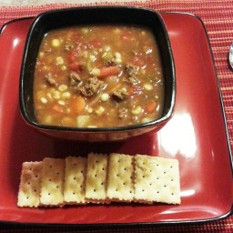 Kay's Beefy Vegetable soup