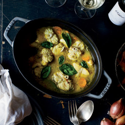Monkfish Stew with Saffron Broth