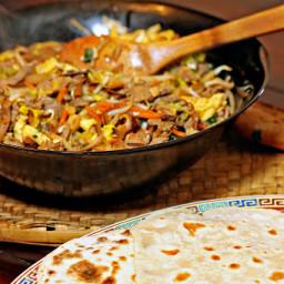 Moo Shu Pork with Homemade Pancakes