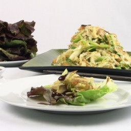 Moo Shu Vegetables with Lettuce Pancakes and Plum Sauce