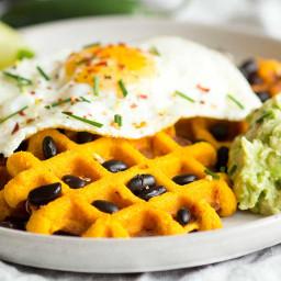 Morning Glory Savoury Sweet Potato Waffles