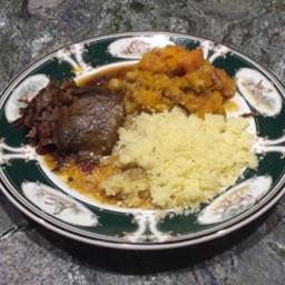 Moroccan Beef Roast with Honey Glaze & Stewed Vegetables