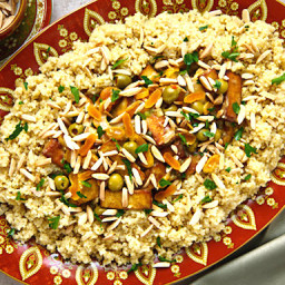 Moroccan-Flavored Tofu with Apricots, Olives, and Almonds