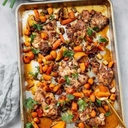 Moroccan Orange Sheet Pan Chicken