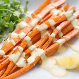 Moroccan Roasted Carrot Salad with Yogurt Dressing