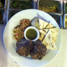 Moroccan Spiced Lamb with Mint Dipping Sauce