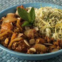 Moroccan spiced Quorn mince with couscous