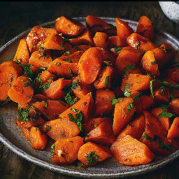 Moroccan-style cooked carrot salad