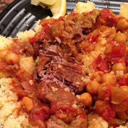 Moroccan-Style Lamb Shoulder Chops with Couscous