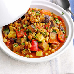 Moroccan veg and chickpea tagine