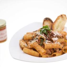 Mostaccioli with Sun-Dried Tomato Cream Sauce