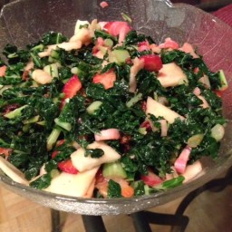 Mouth-Watering Kale & Rhubarb Salad