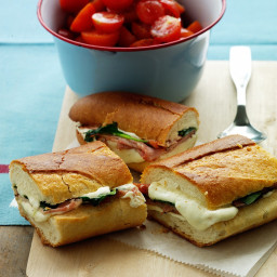 Mozzarella and Ham Panini
