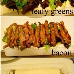 Mozzarella, Bacon & Veg Rollup