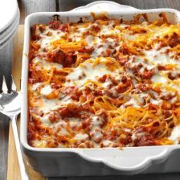 Mozzarella Baked Spaghetti Recipe