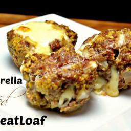 Mozzarella Stuffed Meatloaf Minis recipe