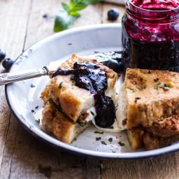 Mozzarella in Carrozza (Fried Mazzarella Sandwich) w/Blueberry Balsamic Jam