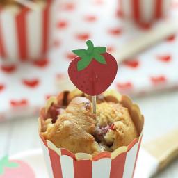 Muffin fragole e cioccolato bianco