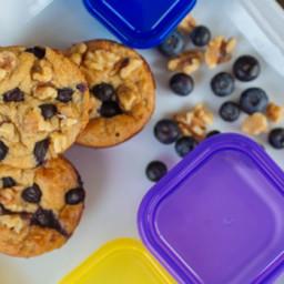 Muffins aux bleuets et flocons d'avoine