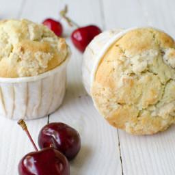 Muffins crumble aux cerises sans gluten