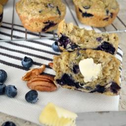 Muffins de calabacita, moras, nuez y limón (sin gluten y lácteos)