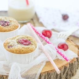 Muffins vegan alle ciliegie