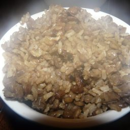 Mujadarah (Rice and Lentils)
