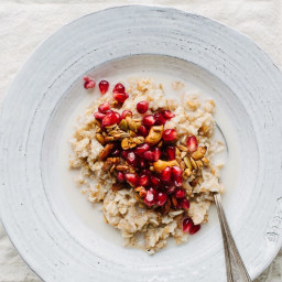 Multigrain Hot Cereal with Pomegranate Seeds and Spiced Pepita and Cashew C