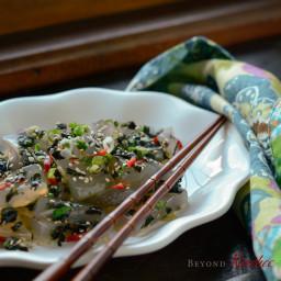 Mung Bean Jelly Salad