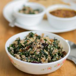 Murungai keerai poriyal | Drumstick Leaves Stir-fry (Vegan)