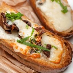 Mushroom and Fontina Crostini