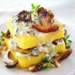 Mushroom and Gorgonzola Pressure Cooker Polenta Lasagna