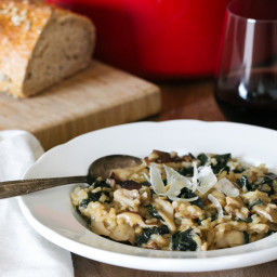 Mushroom and Kale Risotto