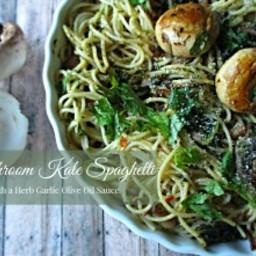 Mushroom and Kale Spaghetti