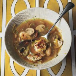 Mushroom and Leek Soupwith Parsley Dumplings