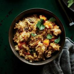 Mushroom and Roasted Butternut Squash Risotto