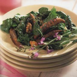 Mushroom and Spinach Salad