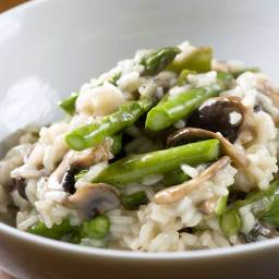 Mushroom and Spring Vegetable Risotto