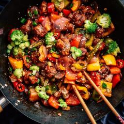 Mushroom and Veggy Stir Fry