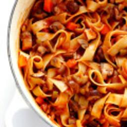 Mushroom Bolognese