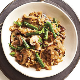 Mushroom-Brown Rice Risotto